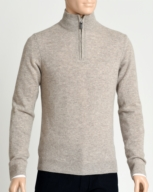 PULL COL ZIPPE HOMME